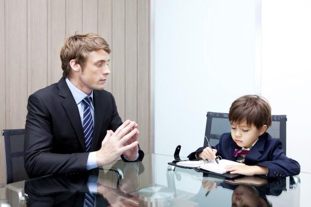 kid business meeting
